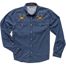 Gaucho Snap Shirt Mens - Midnight Blue: Crab S by Howler Brothers