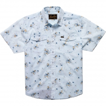 H Bar B Snapshirt Mens - Vintage Floral: Soft Blue L by Howler Brothers