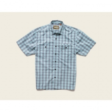 Mens Aransas Short Sleeve Shirt - Closeout Palaka Plaid:Surfmist/Grey by Howler Brothers