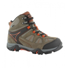 Altitude Lite WP JR Hiking Boot - Kid's - Warm Grey/Orchid/Horizon In Size by Hi-Tec Sports