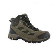 Logan Waterproof Hiking Boot - Men's - Smokey Brown/Olive/Snow In Size by Hi-Tec Sports