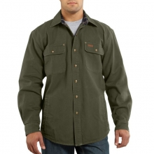 Men's Weathered Canvas Button Up Shirt Jac