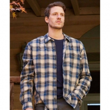 Men's Blue Cream Plaid Flannel Shirt in State College, PA