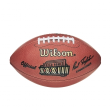 NFL Super Bowl XXXIII Leather Game Football - Official (Pro Pattern) by Wilson