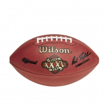 NFL Super Bowl XXXV Leather Game Football - Official (Pro Pattern) by Wilson