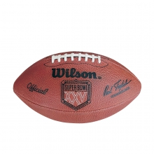 NFL Super Bowl XXV Leather Game Football - Official (Pro Pattern) by Wilson