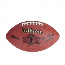 NFL Super Bowl XXVI Leather Game Football - Official (Pro Pattern) by Wilson