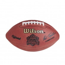 NFL Super Bowl XXVII Leather Game Football - Official (Pro Pattern) by Wilson