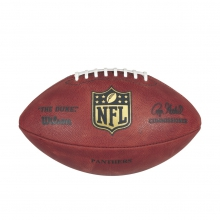 NFL Team Logo The Duke Game Leather Football - Carolina Panthers by Wilson