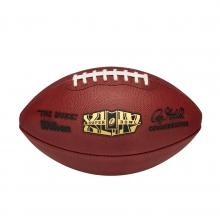 NFL Super Bowl XLIV Leather Game Football - Official (Pro Pattern) by Wilson
