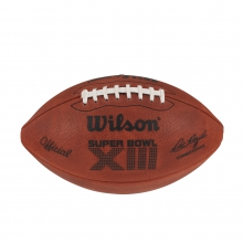 NFL Super Bowl XIII Leather Game Football - Official (Pro Pattern) by Wilson