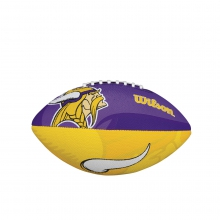 NFL Team Logo Junior Size Football - Minnesotta Vikings by Wilson