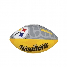 NFL Team Logo Junior Size Football - Pittsburgh Steelers by Wilson