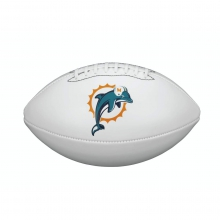 NFL Team Logo Autograph Football - Official, Miami Dolphins by Wilson