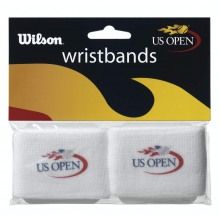 US Open White Wristbands, 2 Pack by Wilson