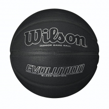 "Evolution Black with Silver Game Basketball (29.5"") by Wilson"