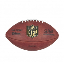 NFL Team Logo The Duke Game Leather Football - New Orleans Saints by Wilson