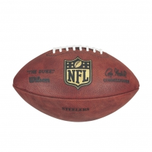NFL Team Logo The Duke Game Leather Football - Pittsburgh Steelers by Wilson