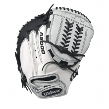 "Wilson A2000 CM34 White Super Skin 34"" Fastpitch Catcher's Mitt by Wilson in Ames Ia"