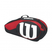 Match Black & Red 3 Pack Tennis Bag by Wilson
