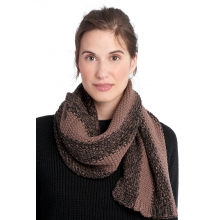 womens 2 tone smu scarf black by Lole