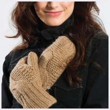 Women's Cable Mittens by Lole