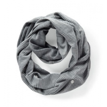 Mix It Up Scarf - Women's - Creme Stripe/Slate Heather by Moving Comfort