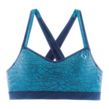 Uprise Crossback Bra - Women's: Azure Lace, Small by Moving Comfort