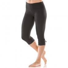 Womens Urban Gym Capri - Sale Black Jacquard Small by Moving Comfort
