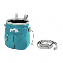 Sakapoche Chalkbag With Belt, Blue, OS by Petzl