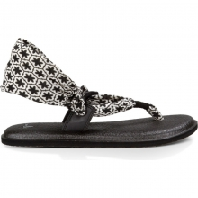 Womens W Yoga Slinglet Prints Black/White Tile 7 by Sanuk