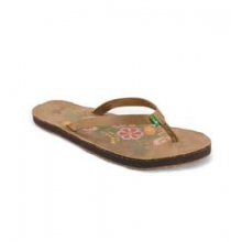 Flora the Explora Flip Flop Sandals - Women's - Tan In Size by Sanuk