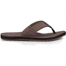 Mens Burro Down Dark Brown 10 by Sanuk