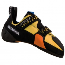 Booster S Climbing Shoe Mens - Black/Yellow 40 by Scarpa