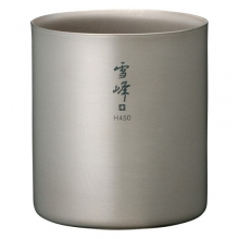 H450 Double Walled Titanium Stacking Mug by Snow Peak