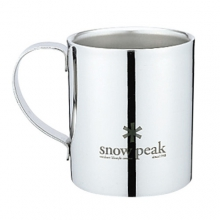 Logo Double Wall Mug 240 - Stainless Steel by Snow Peak