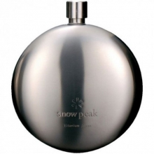 Titanium Curved Flask  - Round Flask by Snow Peak