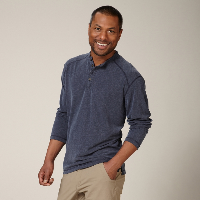 Royal Robbins - DESERT KNIT L/S HENLEY - RELAXED FIT