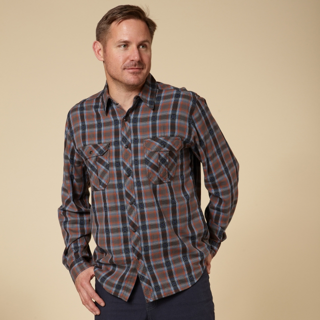 Royal Robbins - OMBRE FLANNEL L/S - REGULAR FIT