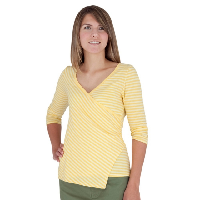 Royal Robbins - - Lucy Stripe Crossover Womens - Medium - Daffodil Dark