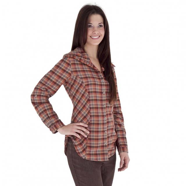 Royal Robbins - - Metro Plaid Tunic - Small - Rum Raisin