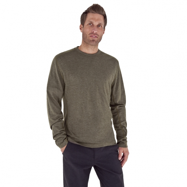 Royal Robbins - - Mission Knit L/S Crew - Large - Moss