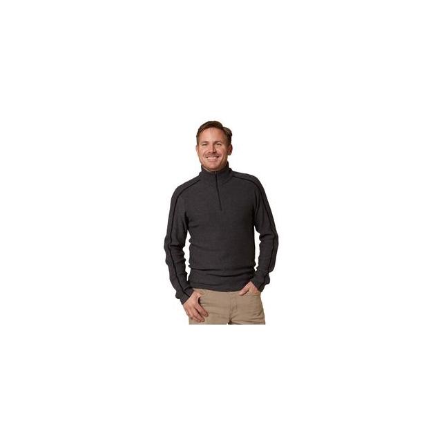 Royal Robbins - Fireside Wool 1/4-Zip Sweater Men's, Petrified Oak, M