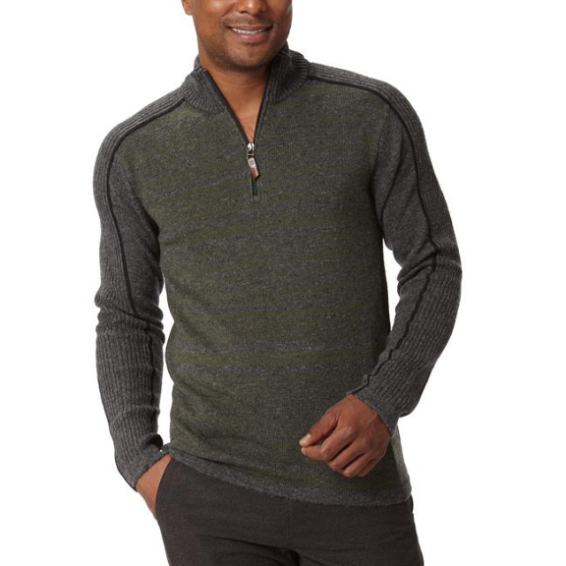Royal Robbins - Men's Fireside Wool Stripe 1/4 Zip