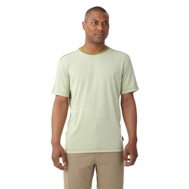 Royal Robbins - Men's Desert Knit Micro Stripe Crew Short Sleeve