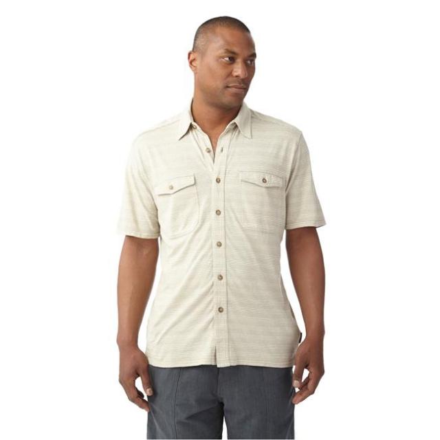 Royal Robbins - Men's Breeze Thru Stripe Button Front Short Sleeve