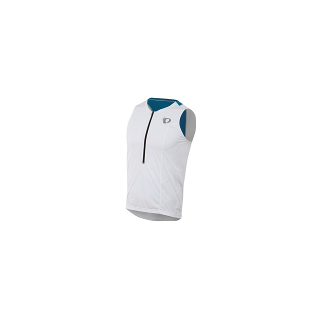 Pearl Izumi - Select Relax Tri Singlet - Men's - White/Brilliant Blue In Size: Medium