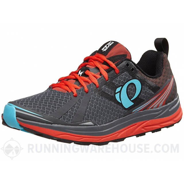 Pearl Izumi - - Mens EM Trail M2 V3 - 12 - Shadow Grey/Grenadine