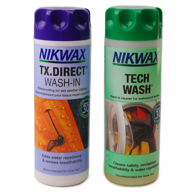 Nikwax - Hardshell DuoPack Tech Wash and TX Waterproofer, 10OZ