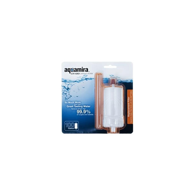 McNett - Aquamira - Water Filter Bottle CR 100 Capsule Replacement Filter - White